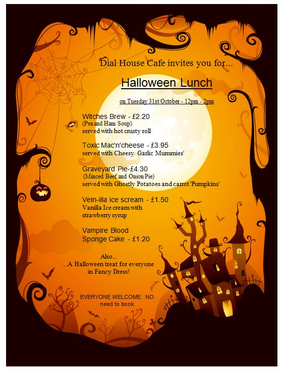halloween lunch in the dial house caf u00e9  u2013 dial west cheshire