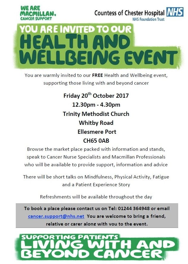 Wellbeing for those affected by cancer