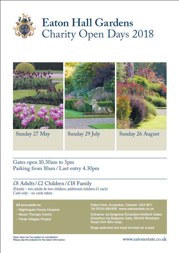 Eaton Hall Gardens Open day dates