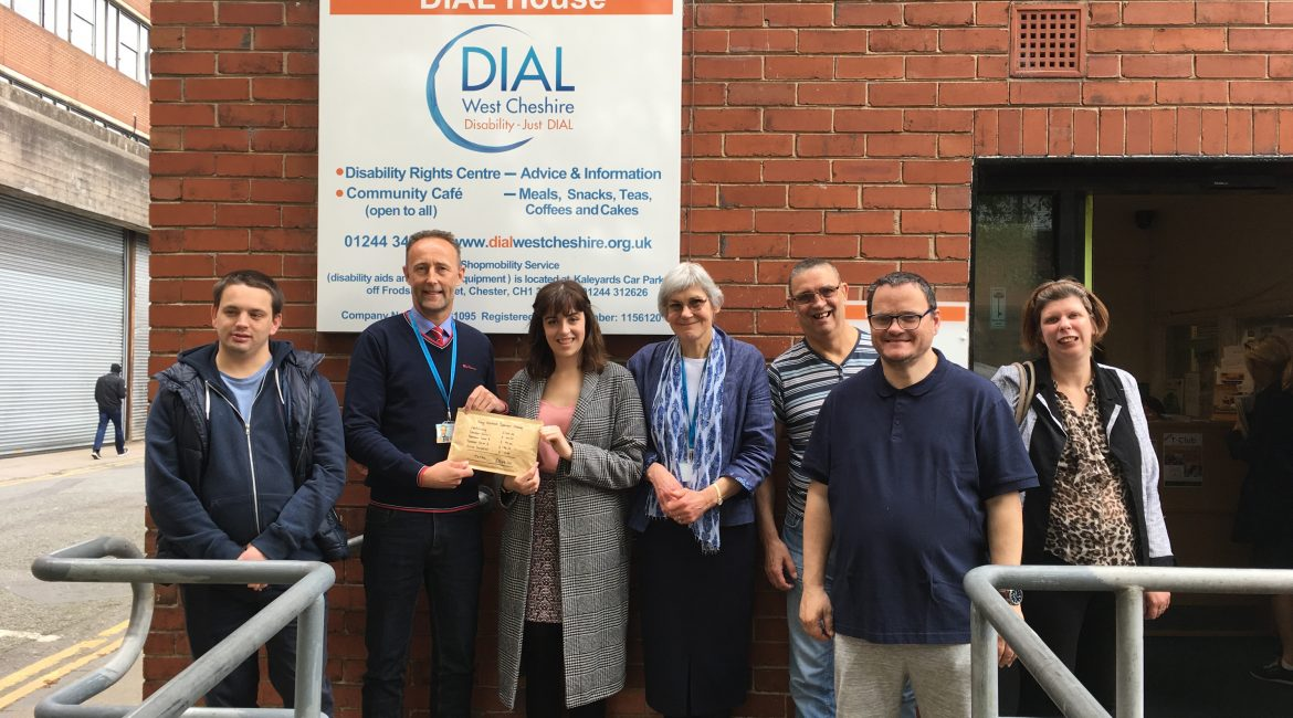 Volunteer Amy Hallows raises a whopping £544 for Dial!