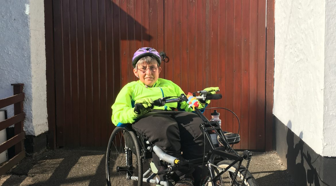 Jo cycled a marathon and raised £246 for Dial!