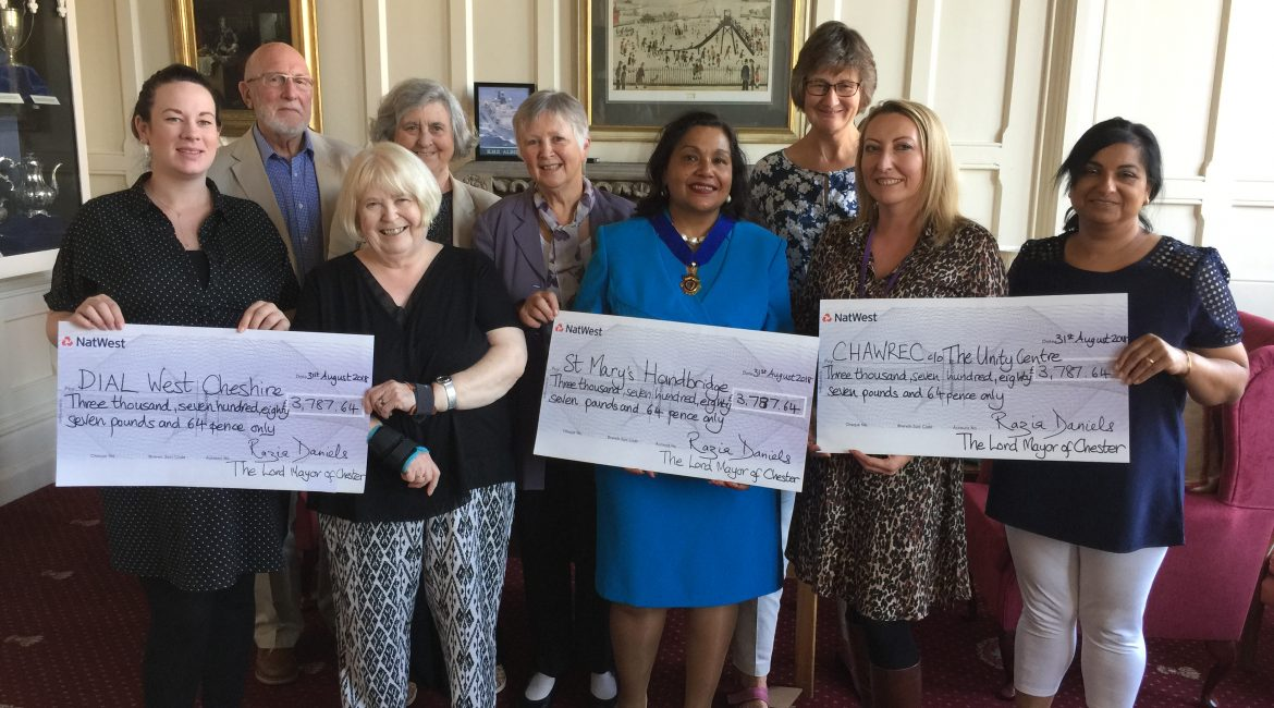 Fundraising success as The Lord Mayor's Charity 2017-18