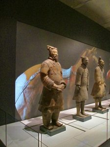 Some of the Terracotta Warriors on display in Liverpool