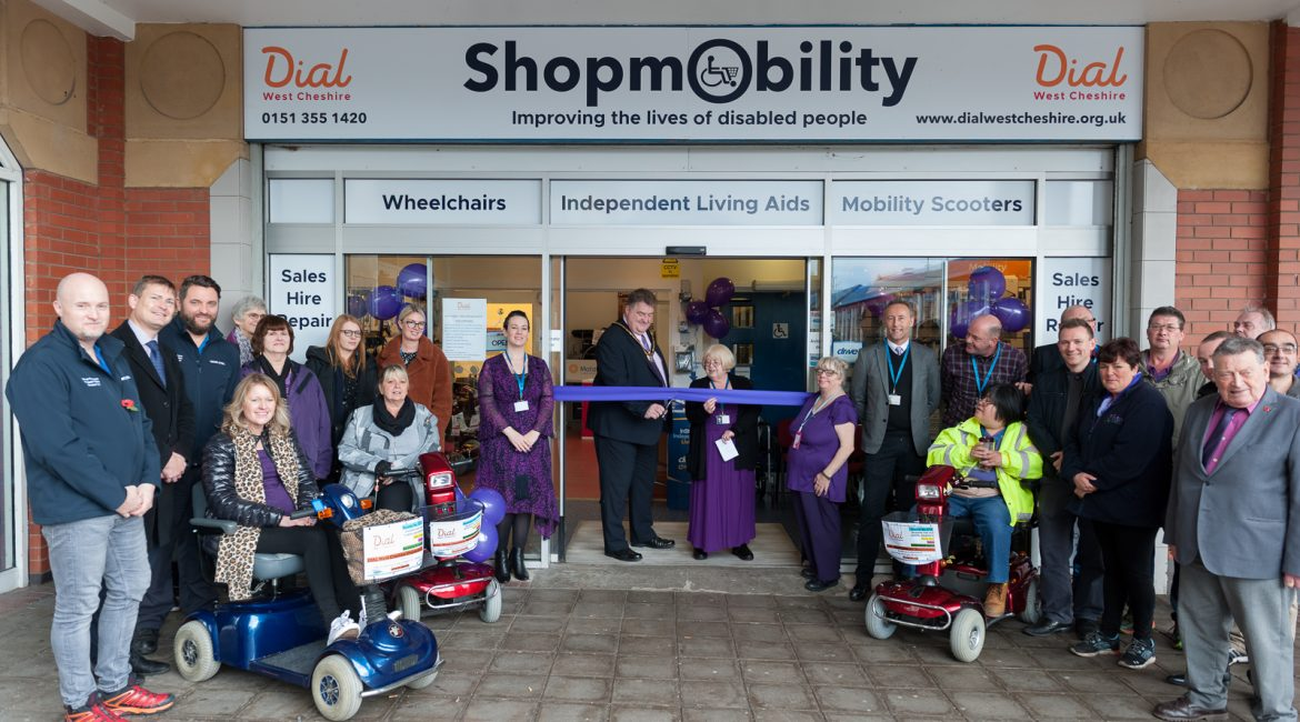 Dial West Cheshire officially launch Shopmobility service in Ellesmere Port