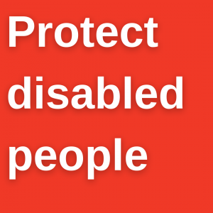 Protect disabled people