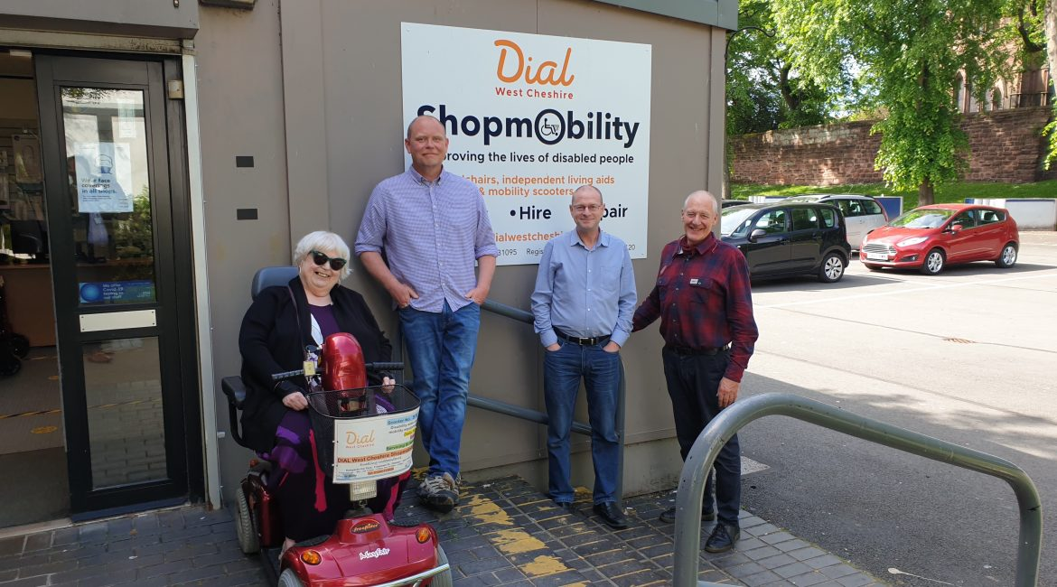 Dial West Cheshire Shopmobility crowned a beacon of good practice.